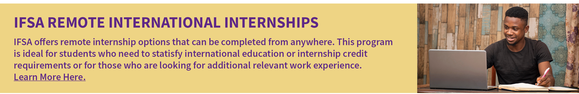 Click here for more info on Remote International Internships