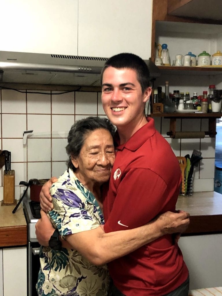 Will with his host mom