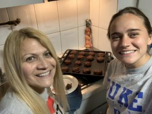 Maddie and her host mom cooking